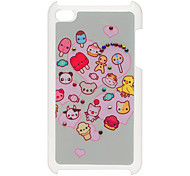 Heart Pattern Hard Case with Rhinestone for iPod Touch 4