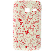 Love Pattern Hard Case for Samsung I6102