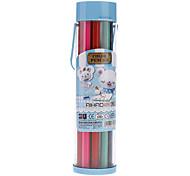 18 Colors Wooden Colored Pencils with Portable Box Set (Random Color)