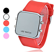 Square Digital Silicone Band LED Wrist Watch