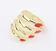Gold Plated Alloy Hand Pattern Opening Ring