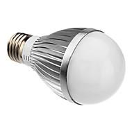 E26/E27 5 W 5 High Power LED 450 LM Warm White A60 Globe Bulbs AC 85-265 V