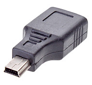 mini-usb macho para fêmea adaptador usb 2.0