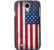 Retro Style US Flag Pattern Hard Case for Samsung Galaxy S4 I9500