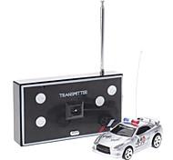 01:58 Radio Control Mini politie auto met licht en Alarm Sound (Model: 2006d-2)