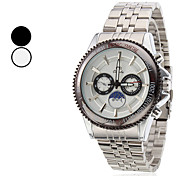 Men's Casual Style Steel Analog Quartz Wrist Watch (Assorted Colors)