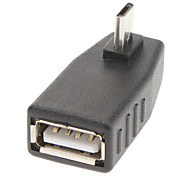90 Degree to Right USB/A to Micro 5P F/M Adapter