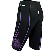Santic 82% Nylon+18% Spandex Windproof+Warm-Keeping Women Cycling Shorts with 6D Pad