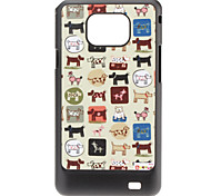 Dog Pattern Hard Case für Samsung Galaxy S2 I9100