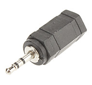 2.5mm a 3.5mm adaptador de áudio m / f