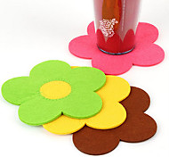 Sunflower Style Cup Mat Heat Pad (Random Color)