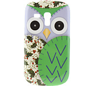 Green Owl Pattern Hard Case for Samsung Galaxy S3 Mini I8190