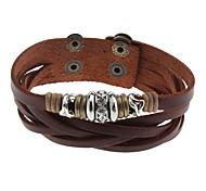 Ball Black Leather Diamond Bracelet