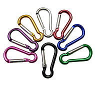4mm Aluminum Carabiner Clip Red / Green / Black / Silver / Blue