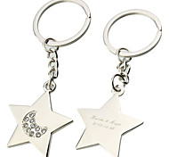 Personalized Engraved Gift Five-pointed Star Keychains(Set of 6)