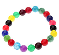 8mm Colorful Onyx Gemstone Bracelet