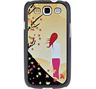 Para trás da mulher Padrão Hard Case para Samsung Galaxy S3 I9300