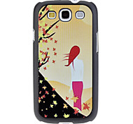Back of Woman Pattern Hard Case für Samsung Galaxy S3 I9300
