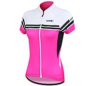 Santic Frauen Radfahren Jersey Kurzarm 100% Polyester atmungsaktiv + schnell trocknend (2 Farben)