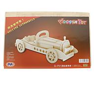 Fai da te in legno di rotolamento Automobile pianoforte stile Puzzle (2 pezzi)