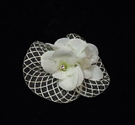 Net elegante com Fascinators Femininos Flor