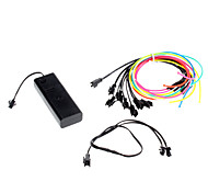 3 Meter Flexible Car Decorative Neon Light 2.3mm EL Wire Rope with Battery Power Supply