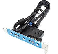 USB 3.0 female * 2 SATA Buchse Kabel 0.5m