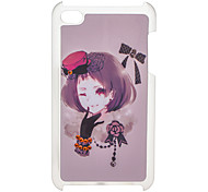 Beautiful Girl Padrão Hard Case com strass para iPod Touch 4