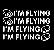 I'm Flying Pattern Car Door Handle Decorative Sticker