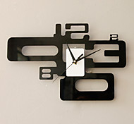 Modern Fashion Wall Clock in Artistic Number Featured Design
