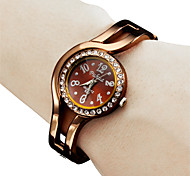 Women's Fashional Style Analog Quartz Metal Bracelet Watch (Bronze)