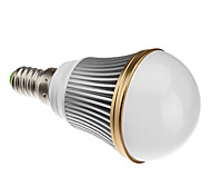 E14 3 W 3 High Power LED 240 LM Natural White A Dimmable Globe Bulbs AC 220-240 V