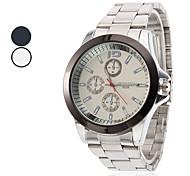 Men's Wrist Style Steel Analog Quartz Watch (Assorted Colors)