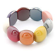 Acrylic Candy Color Bead Connected Bracelet