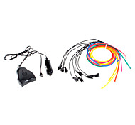 1 Meter Flexible Car decorativo Neon Light 4mm EL Wire Rope con sonido Activado