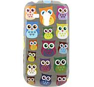 Small Owl Pattern Hard Case for Samsung Galaxy S3 Mini I8190