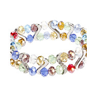 S-shaped Diamond Crystal Bracelet
