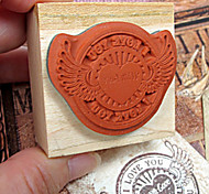 Flying Heart I Love You Pattern Stamp Seal