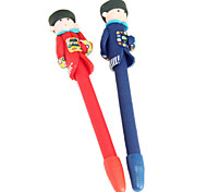 Chinese Ancient Ministers Polymer Clay Pen (Random Color)