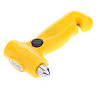 3-LED Dynamo Flashlight with Lifesaving Hammer (Yellow)