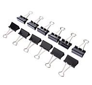 12pcs Black Stainless Binder Clip