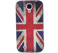 Bandeira Reino Unido padrão TPU macio para Samsung i9500 Galaxy S4