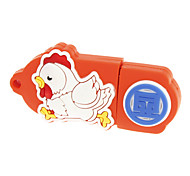 Patrón Chicken Striding Naranja 16 GB con Terrestre Poder USB2.0Flash Drive