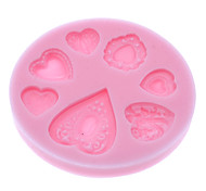 3D Sweet Heart Theme Silicone Cookie Biscuit Mold
