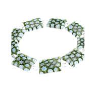Dark Green Rectangle Kristall Glasurarmband