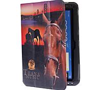 Paard patroon pu lederen tas met standaard voor Samsung Galaxy Note 10.1 N8000