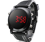 Men's Watch Sports Red LED Digital Silicone Strap Cool Watch Unique Watch
