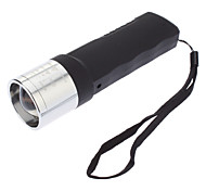 JB-1080 Dynamo 3-Mode Cree XP-E Q5 Zoom LED Flashlight(240LM, Black)