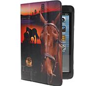 cavalo selvagem caso de couro pu w / stand& slot para cartão de iPad mini 3, mini iPad 2, iPad mini