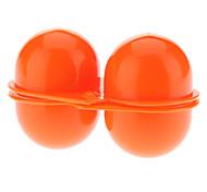 Portátil de proteção ABS 2 Compartimento Egg Box Armazenamento - Laranja